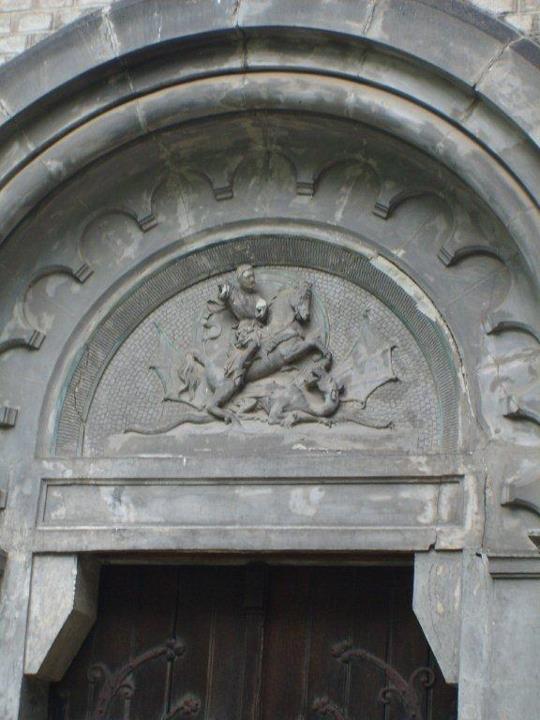 Sv. Jiří bojuje s drakem...