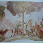 Obraz na stropě kaple
